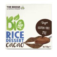 The Bridge bio rizs desszert, 4x110 g - kakaós