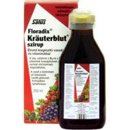 Salus Krauterblut Floradix étrendkiegészítő szirup vassal és vitaminokkal, 250 ml