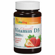 Vitaking D3-vitamin 2000NE epres ízű rágótabletta, 90 db