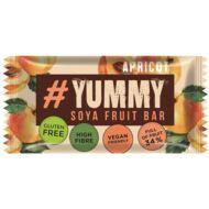 Yummy gyümölcsös-mogyorós gluténmentes szója szelet - sárgabarack , 40g
