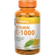 Vitaking C-vitamin 1000 mg Bioflavonoid, acerola, csipkebogyó tabletta, 90 db