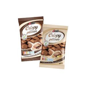 Dexi Crispy Pillows csokoládé ízesítésű párnák 150 g