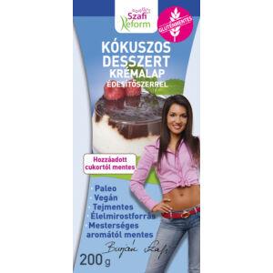 Szafi Reform Kókuszos desszert krémalap édesítőszerrel 200 g