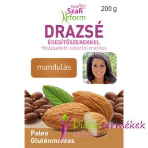 Szafi Reform Eritrites mandulás drazsé gluténmentes vegán paleo 200 g