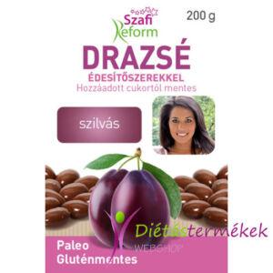 Szafi Reform Eritrites szilvás drazsé gluténmentes vegán paleo 200 g