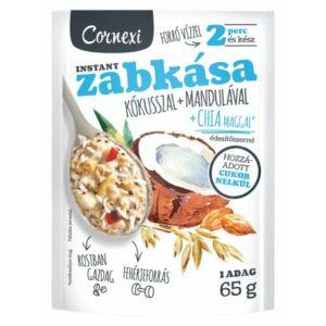 Cornexi kókuszosmandulás zabkása chia maggal és édesítőszerrel hozzáadott cukor nélkül 65 g