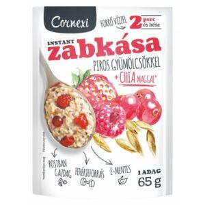 Cornexi piros gyümölcsös zabkása chia maggal, 65 g