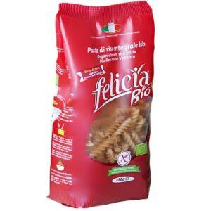 Felicia Bio Gluténmentes Tészta barna rizs fusilli 250g