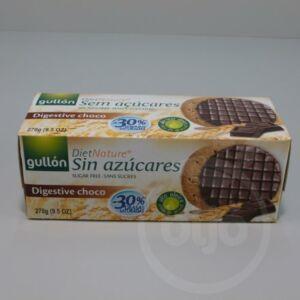 GULLON diabetikus korpás keksz étcsokoládé bevonattal édesítőszerrel 270 g