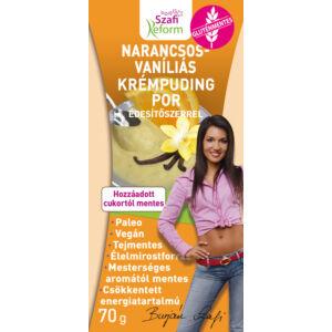 Szafi Reform Narancsosvaníliás krémpuding por édesítőszerrel 70 g