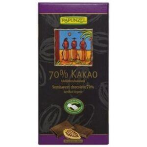 Rapunzel bio Keserűcsokoládé 70%-os kakaótartalommal, vegán, 80 g
