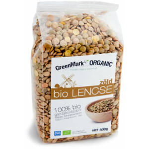 GreenMark bio zöld lencse 500g