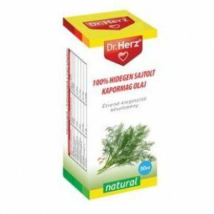 Dr. Herz hidegen sajtolt kapormag olaj, 50 ml