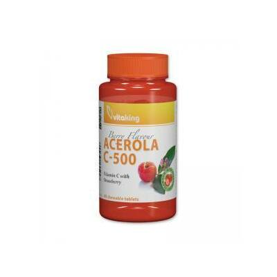 Vitaking C-500mg Acerola EPRES, 40 db rágótabletta
