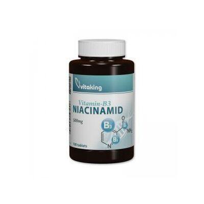 Vitaking B3-Niacinamid 500mg, 100 db tab