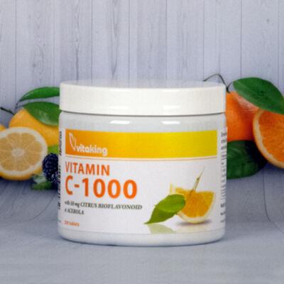 Vitaking C-1000mg, 200 db tabletta (flav +acer +csipkb)