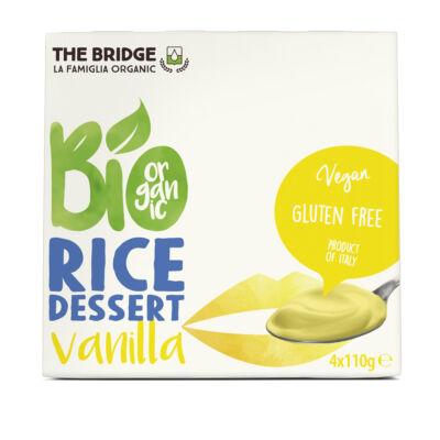 The Bridge bio rizs desszert 4x110 g  vaníliás