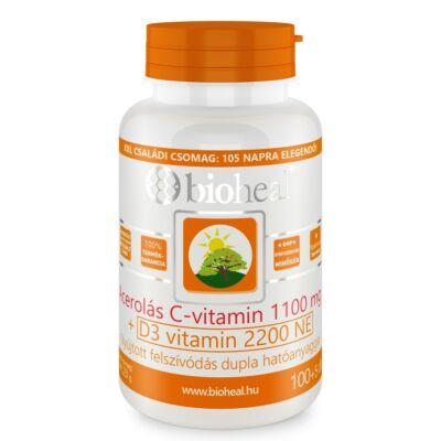 Bioheal Acerolás Cvitamin 1100mg   D3vitamin 2200NE filmtabletta 105 db