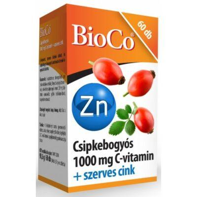 BioCo Csipkebogyós Cvitamin 1000 mg szerves cink 60 db tabletta