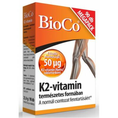 BioCo K2vitamin 50 µg 90 db tabletta