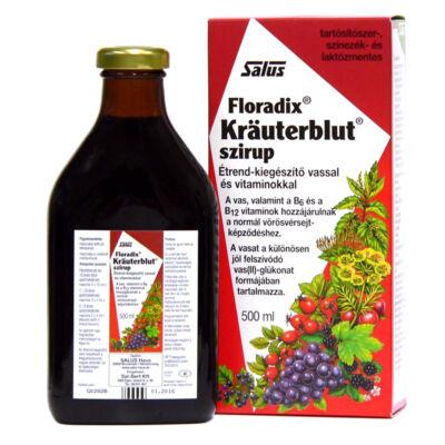 Salus Krauterblut Floradix étrendkiegészítő szirup vassal és vitaminokkal 500 ml