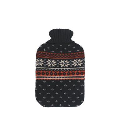 Vivamax Melegítő palack téli mintás kékpiros 2000 ml