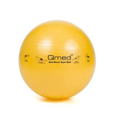 Qmed gimnasztikai labda sárga 45 cm pumpával