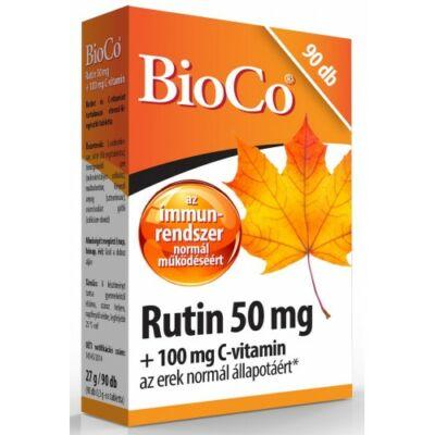 BioCo Rutin 50mg 100mg Cvitamin 90 db tabletta