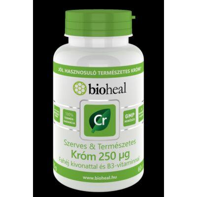 Bioheal Szerves   Természetes Króm 250 μg fahéj kivonattal és B3vitaminnal 60 10 db