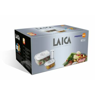 Laica 3db os prémium vákuumozható doboz szett 2Les   05 Les téglalap doboz   pumpa