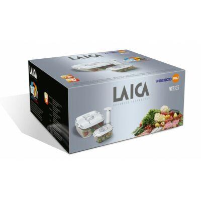 Laica 3db os prémium vákuumozható doboz szett 2Les négyzet   05 Les téglalap doboz   pumpa