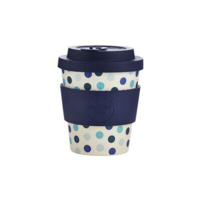 Ecoffee Cup hordozható kávéspohár  Blue Polka 250 ml