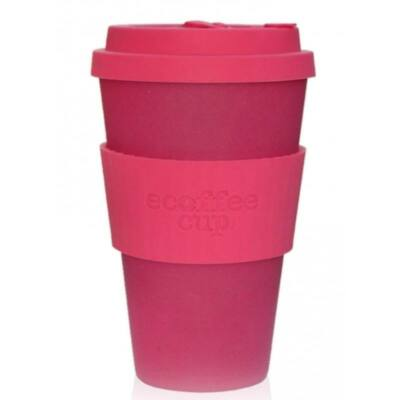 Ecoffee Cup hordozható kávéspohár  Pink 400 ml