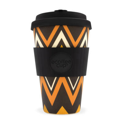 Ecoffee Cup hordozható kávéspohár ZignZag 400 ml