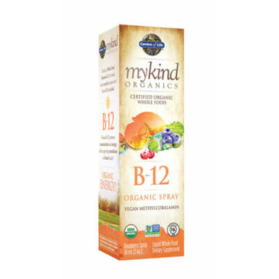 Garden of Life B12 Spray Málnás 500 mcg  58 ml