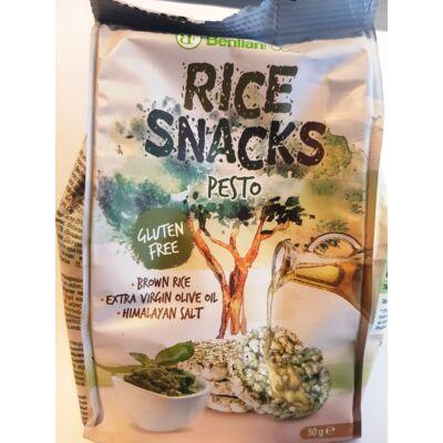 Rice Snack Pesto  Gluténmentes pestos rizs snack 50 g