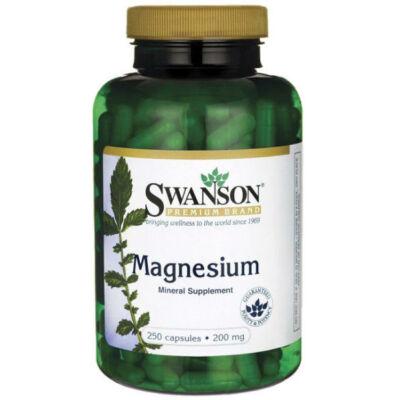 Swanson Magnézium Kapszula 200mg 250 db