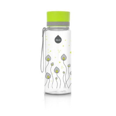 MyEqua BPAmentes műanyag kulacs 400 ml  Zöld levelek