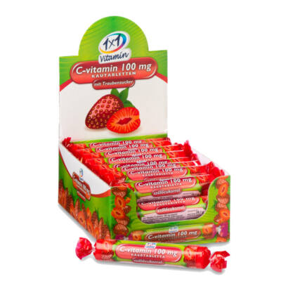 1×1 Vitaday Cvitamin epres szőlőcukor rágótabletta 17 db