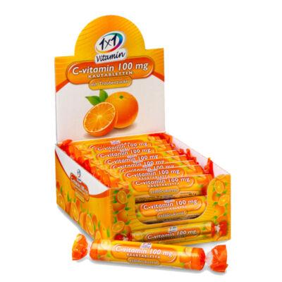 1×1 Vitaday Cvitamin narancsos szőlőcukor rágótabletta 17 db