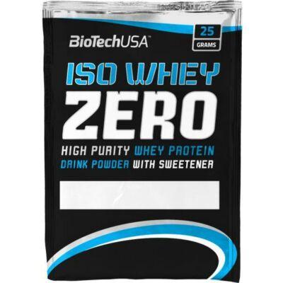 BioTech Iso Whey ZERO Lactose Free fehérje készítmény eper ízesítés 25 g