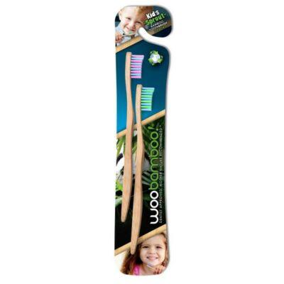 Woobamboo bambusz fogkefe gyerekeknek 2db
