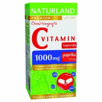 Naturland 1000 Mg Cvitamin Kapszula Paprikával 40 db