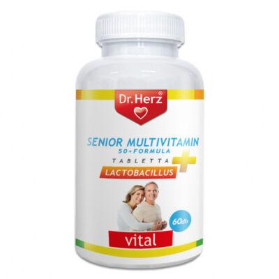 Dr. Herz Senior Multivitamin 50+ Lactobacillus tabletta, 60db