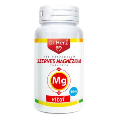 Dr. Herz Szerves Magnézium + B6 + D3 tabletta, 60 db