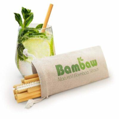 Szívószál bambuszból 14 cm