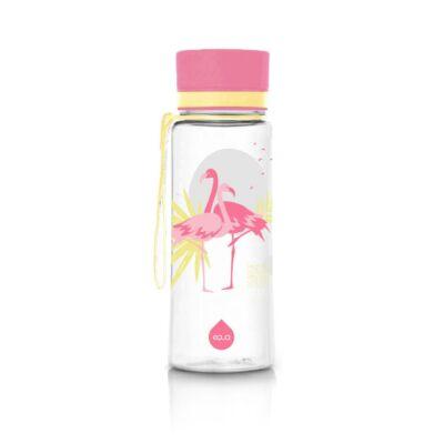 MyEqua BPAmentes műanyag kulacs 600ml  Flamingó