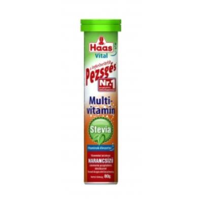 Haas pezsgőtabletta 20 db  Multivitamin Steviával