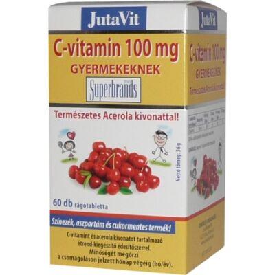 JutaVit Cvitamin 100 mg rágótabletta gyermekeknek 60 db