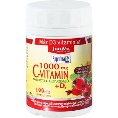 Jutavit CVitamin D3 1000 mg csipkebogyó kivonattal 100 tabletta
